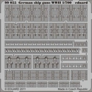 1/700 German guns WWII