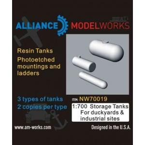 1/700 Storage Tanks For Dockyards & Industrial sites