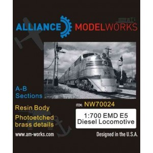 1/700 EMD E5 Diesel Locomotive