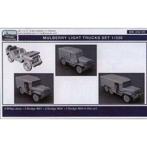 1/350 US Army light trucks set