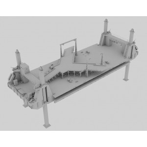 1/350 Mulberry artificial harbour LST-SPUD pontoon