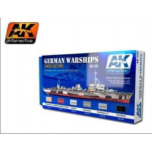 AK 559 SET ACRYLIC COLORS FOR GERMAN WARSHIPS