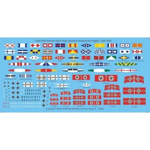 1/350 WWII German Signal flags