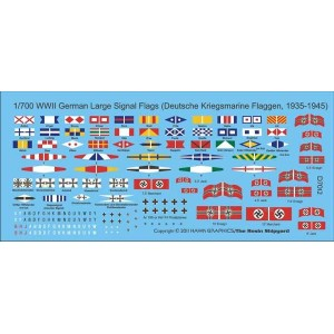 1/700 WWII German Signal flags
