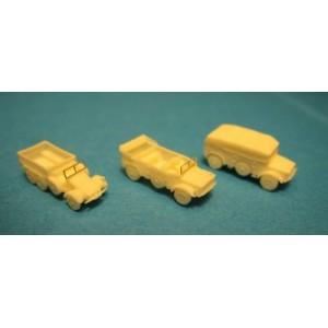 1/350 WWII German light trucks set