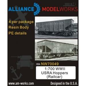 1/700 WWII USRA Hoppers Railcar