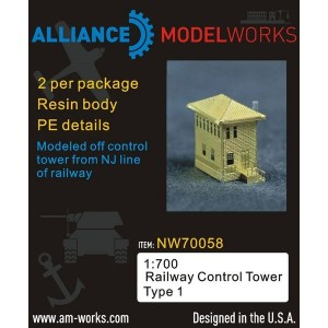 1/700 Railway Control Tower