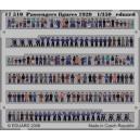 1/350 Figuras pasajeros 1920 a color