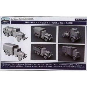 1/350 Mulberry heavy trucks set