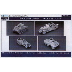 1/350 US Army combat vehicles set