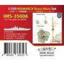 1/350 Bismarck Brass Mast Set